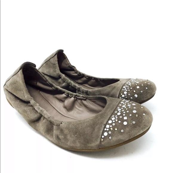 Paul Green Munchen Ballet Flats Shoes Rhinestones